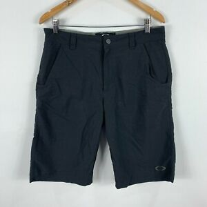 Oakley-Mens-Shorts-Size-32-Black-Zip-Closure-Pockets-Bermuda-Golf