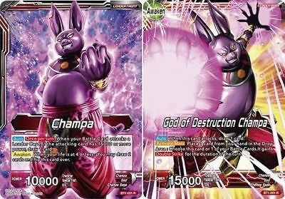 Dragon Ball Super Card # God of Destruction Champa R Foil