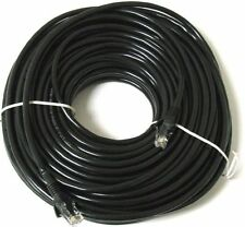 50m Metres Long RJ45 Cat 5e Network LAN Cable Ethernet Patch Lead Premium Black