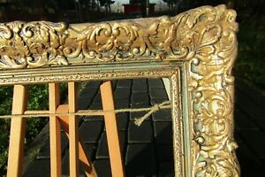 BLACK-BAROQUE-FRAME-FOR-PAINTING-ROCOCO-DEEP-CORE-GILDED-FRENCH-PROVENCE