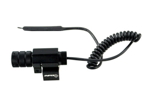 Tactical Red Laser Sight w Remote Pressure Switch Picatinny 20mm Rail Mount