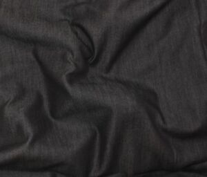 "10 YARDS OF BLACK 60% TENCEL 40% COTTON SHIRTING APPAREL FABRIC 7 OZ 60""W"