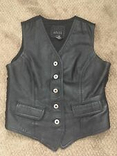 """Limited"" (M) Black Butter Soft Genuine Leather Waistcoat/vest  Biker Festival"