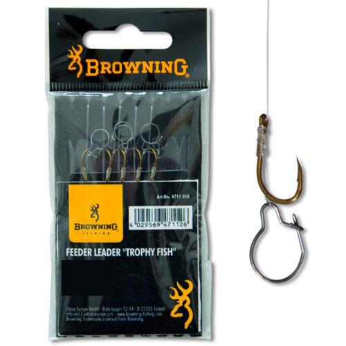 Feeder Trophy Fish Vorfachhaken bronze Browning Gr.10-5 Stück