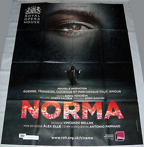 NORMA-ROYAL-OPERA-HOUSE-London-Alex-Olle-Netrebko-Calleja-LARGE-French-POSTER