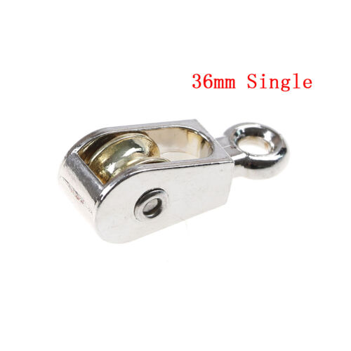 36//52//75mm Metal sheave zinc alloy pulley mini single//double pulley for diy $TBB