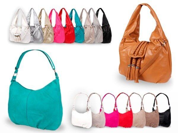 Schultertasche Kunstleder Tasche Shopper Handtasche Damentasche Umhängetasche
