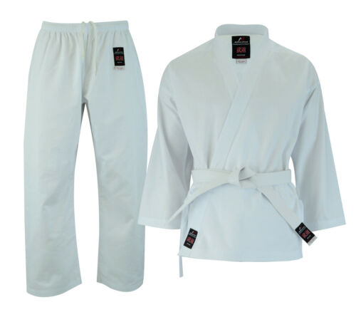 Malino Karate Gi Suit Kids Men Adult Uniform Free Belt Cotton 8oz White/Black