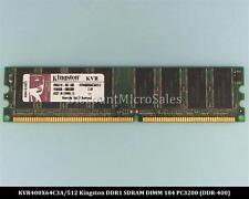 Kingston KVR400X64C3A/512 DDR 512MB PC-3200 Non ECC 400Mhz RAM Memory