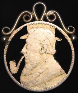 1894-South-Africa-un-chelin-039-trinchera-arte-039-039-dorado-039-Plata-KM-monedas