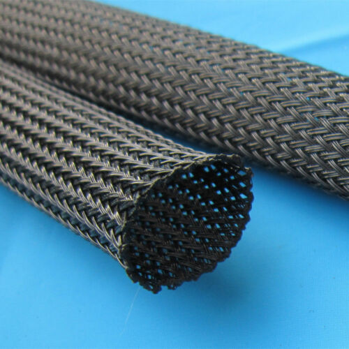 """3//8/"""" 100ft Expandable Braided conduit Wire Cable Weave Sleeve hose cover tube US"""