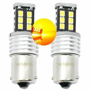 PY21W-Amber-Orange-LED-Canbus-Bulbs-Indicator-Signal-Front-Rear-581-BAU15S-15SMD