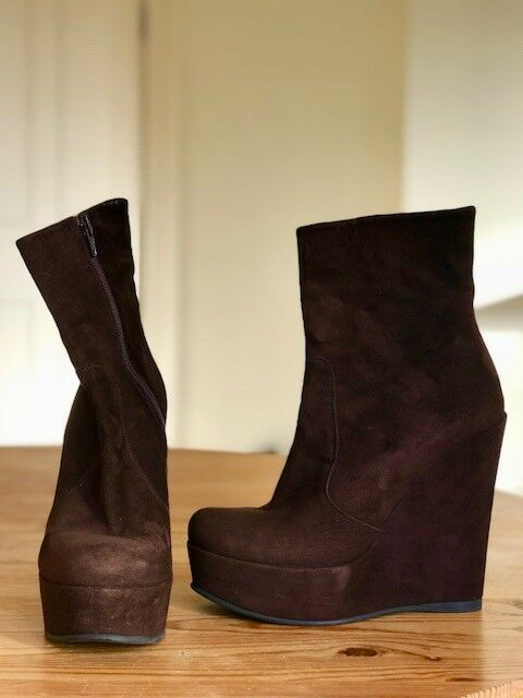 Womens Italian Ankle Suede Boots UK 5.5 (38.5)