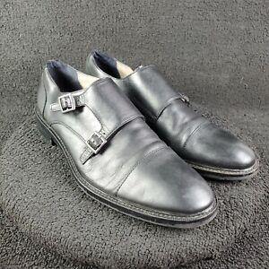 BANANA REPUBLIC Double Monk Strap Black Leather Dress Shoes Mens Size 9M