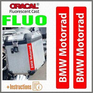 2x-BMW-Motorrad-Red-FLUORESCENT-ADESIVI-PEGATINA-R-1200-1150-F800-F650-F700-GS