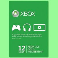 Xbox One 360 Live Gold Card Karte Code 12 Monate Month Neu Per Email
