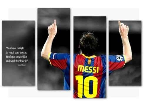 Lionel Messi priceless quote split canvas prints