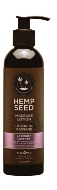 Earthly Body Hemp Seed Massage and Body Oil Lavender 237 ml