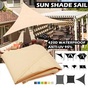 Sonne-Segel-Schatten-Markisen-Canopy-Garten-Sonne-UV-Abdeckung-wasserdicht-Epati