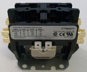 o e m trane contactor relay 2 pole 30 amp ctr02573. Black Bedroom Furniture Sets. Home Design Ideas