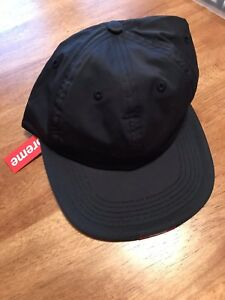 Image Is Loading Supreme Nylon Visor Label 6 Panel Hat Navy