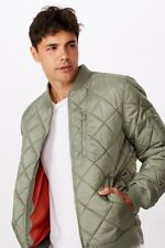 Cotton On Mens Quilted Bomber Jacket Jackets  In  Green