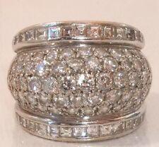 French ART DECO 3.50 carati diamante BOULE 18ct Anello d'oro