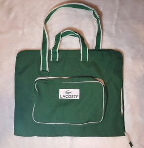 Image Is Loading Nwot Lacoste Garment Bag With Shoulder Strap Green