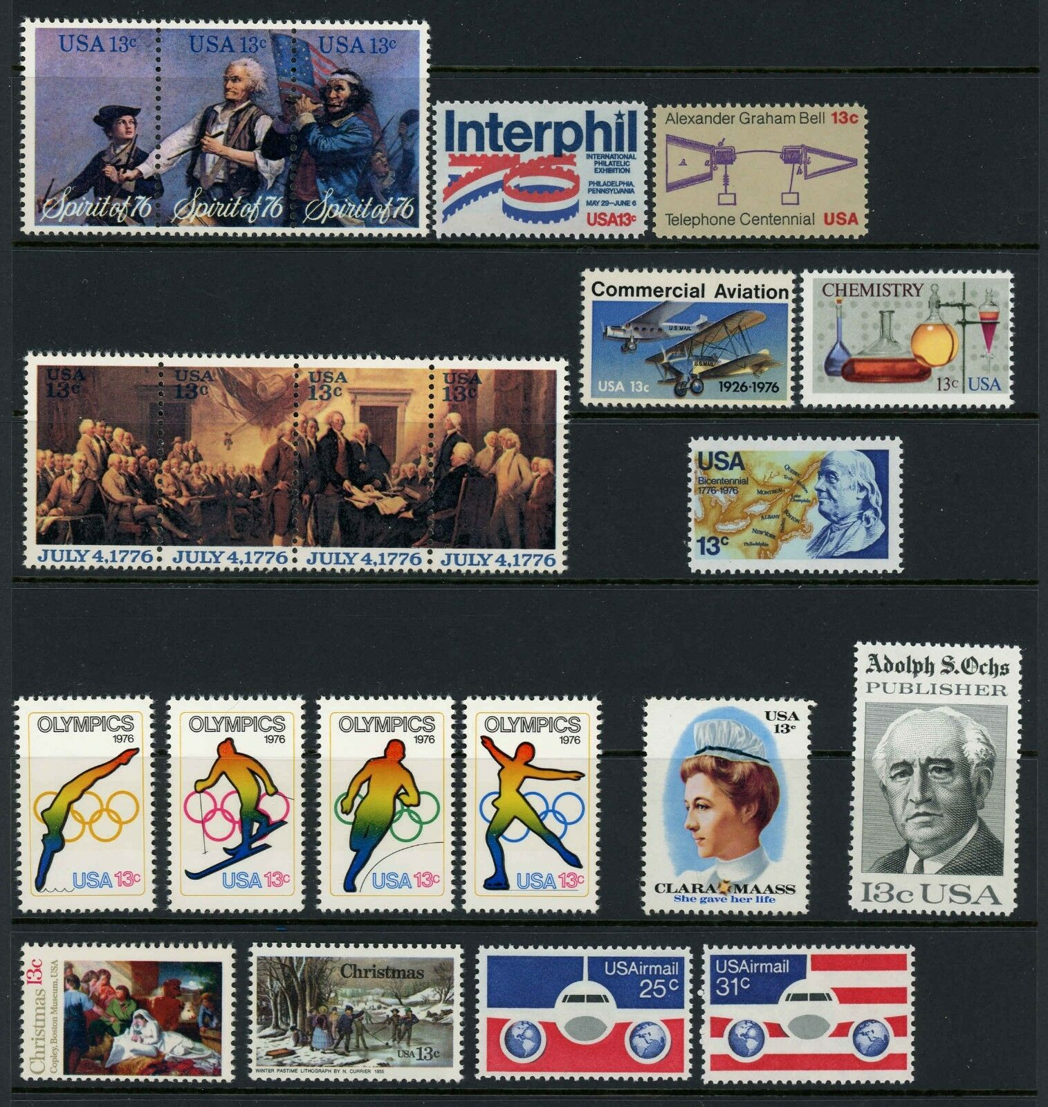 1976 U.S. Commemorative Year Mint Issues, Set of 22 Min