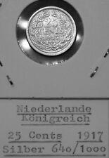 Niederlande 25 Cents 1917 - Silber