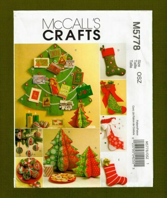 McCall/'s 5778 Sewing Pattern to MAKE  Fabric Christmas Decorations /& Stockings