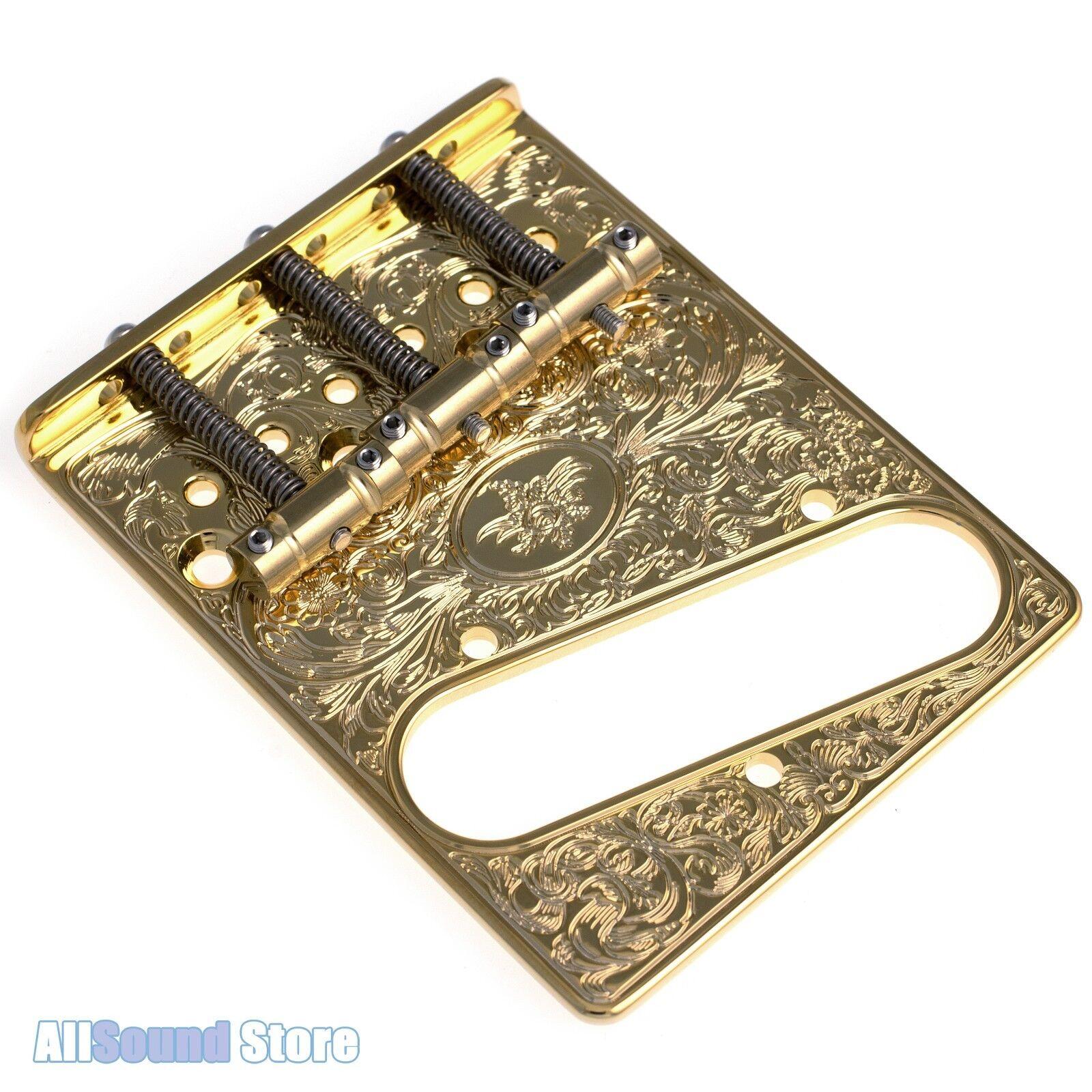 Gotoh GTC-ART-03  Acanthus  In-Tune Engraved Bridge for Telecaster Tele - Gold