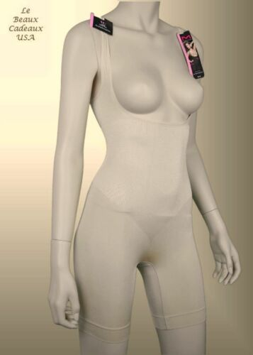 NEW$48 Maidenform Women Shapewear Nude WYOB Singlet Firm Control LARGE L