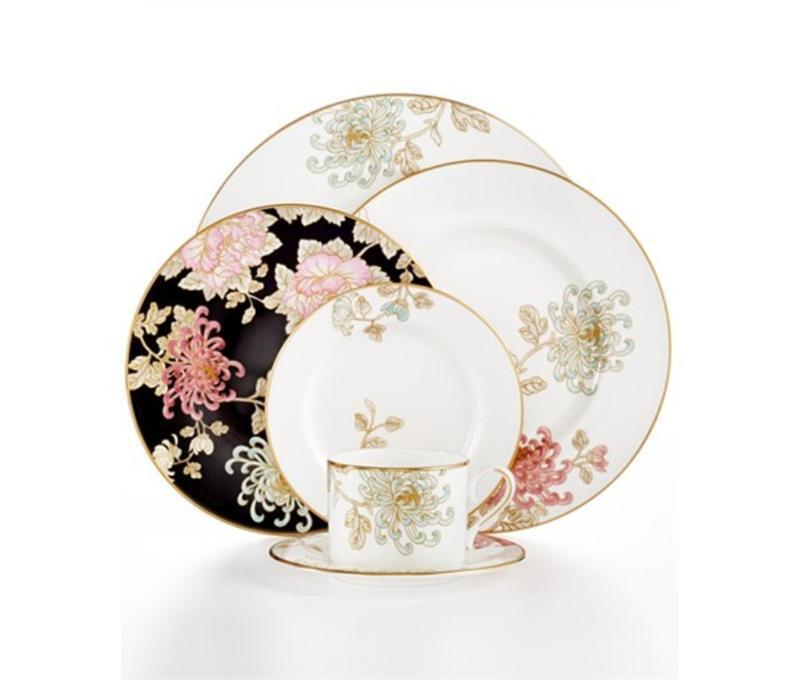 Lenox Marchesa Painted Camellia 40Pc Set, Service for 8
