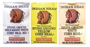 Indian Head Solo Pedra refeição de Milho: Auto-Rising Branco, Amarelo, Branco Original