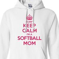 I Can't Keep Calm I'm A Softball Mom Hoodie - Hooded Jumper Sweater Sweatshirt