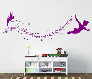 peter pan wand sticker tinkerbell wand sticker ebay. Black Bedroom Furniture Sets. Home Design Ideas