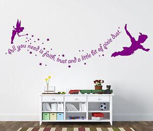 peter pan wand sticker tinkerbell wand sticker ebay. Black Bedroom Furniture Sets. Home Design Ideas