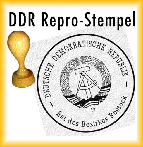 DDR Stempel Kissen Rat des Bezirkes Rostock 18