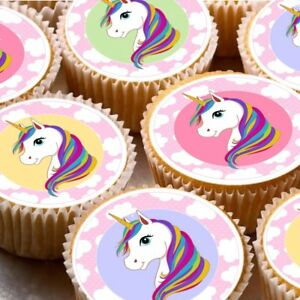 Image Is Loading 24 Edible Cupcake Fairy Cake Toppers Decorations Nd4