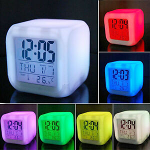 Night-Light-LED-Digital-Alarm-Clock-Changing-Thermometer-Date-Time-7-Colour
