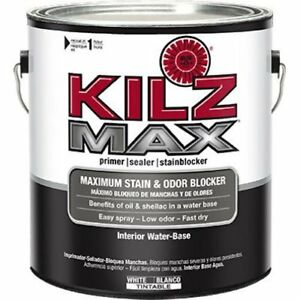 Details About Kilz Max Maximum Stain And Odor Blocking Interior Latex Primer Sealer White