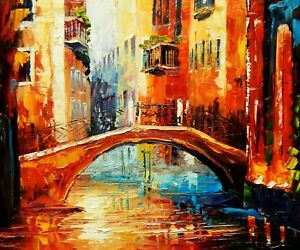 Details About Modern Art Canal View In Venice 50x60 Cm Oil Painting