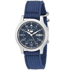 Seiko 5 SNK807 K2 Automatic Blue Nylon Canvas Strap Men's Watch with Seiko Box