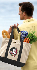 Details about FSU Tote Bag CLASSIC CANVAS Florida State Tote
