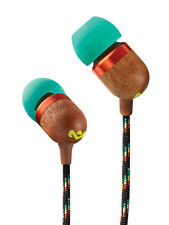 House of Marley Smile Jamaica EM-JE041-SB In-Earphones Headphones with Mic-RASTA