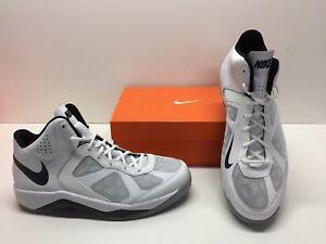 b8879d5783 Nike Dual Fusion BB Basketball White Black Mid Hi High Sneakers ...