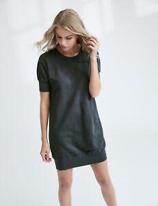 73ced3924ca New FRANK   EILEEN TEE LAB 418 Distressed Sweatshirt Dress S Plaid ...