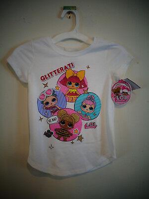 LOL Surprise Doll Shirt White Glitterati Queen Bee Cosmic Crystal Glitter NEW