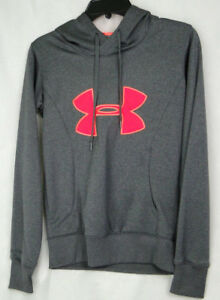 Brillant Under Armour Sweat à Capuche Unisexe Semi-ajusté Excellent D'occasion État-sz Xs-afficher Le Titre D'origine